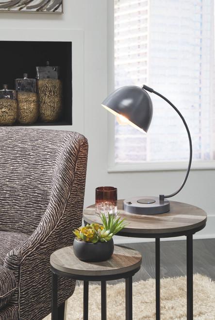Austbeck Gray Metal Desk Lamp (1/CN) img