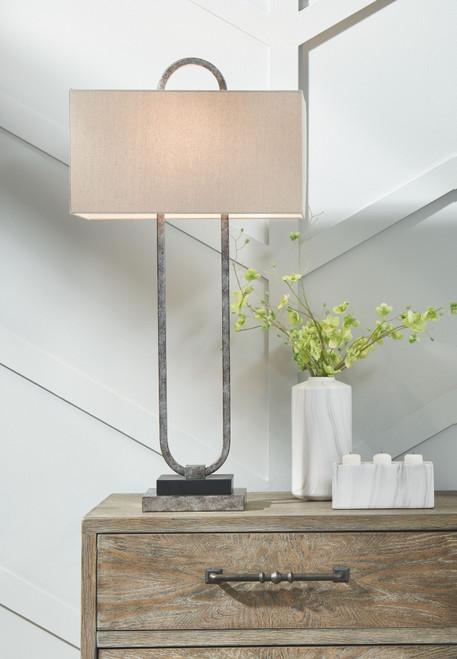 Bennish Antique Silver Finish Metal Table Lamp (1/CN) img
