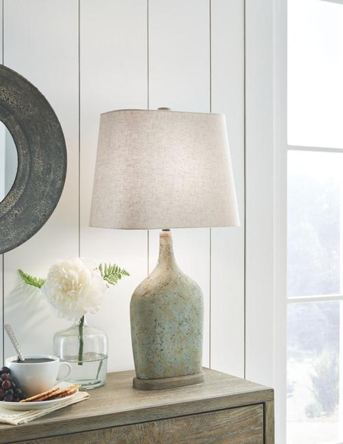 Maribeth Sage Paper Table Lamp (2/CN) img