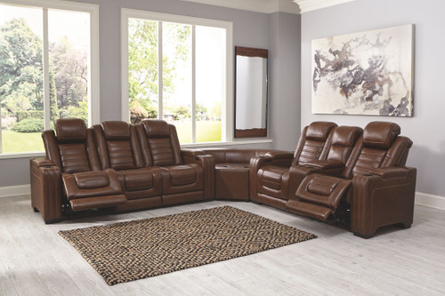 Backtrack Chocolate 3 Pc.- Power Reclining Sectional