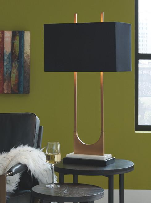 Malana Brass Finish Metal Table Lamp (1/CN) img