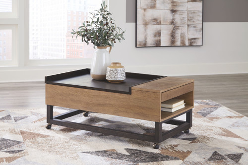 Fridley Two-tone LIFT TOP COCKTAIL TABLE img