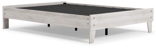 Shawburn White/Dark Charcoal Gray Full Platform Bed