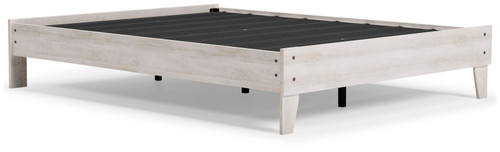 Shawburn White/Dark Charcoal Gray Queen Platform Bed