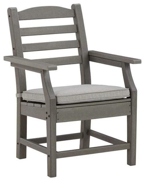 Visola Gray Arm Chair With Cushion (2/CN) img