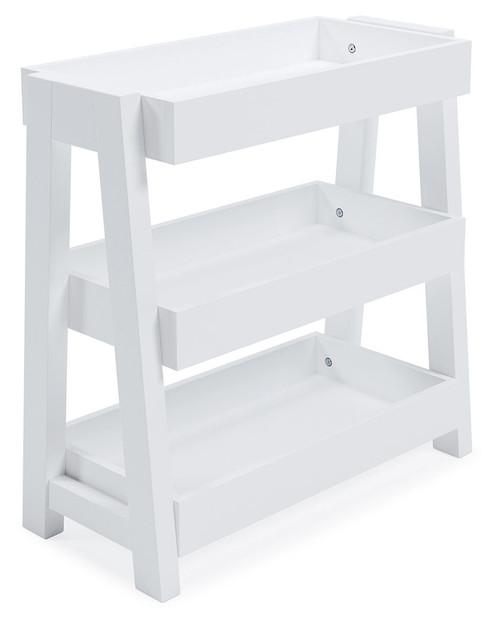 Blariden White Shelf Accent Table