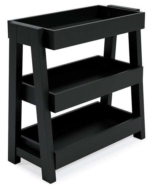 Blariden Metallic Gray Shelf Accent Table img
