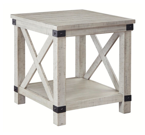 Carynhurst Whitewash Rectangular End Table img