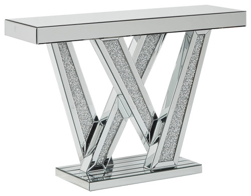 Gillrock Mirror/Silver Finish Console Table img