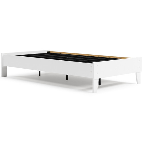 Finch White Twin Platform Bed img