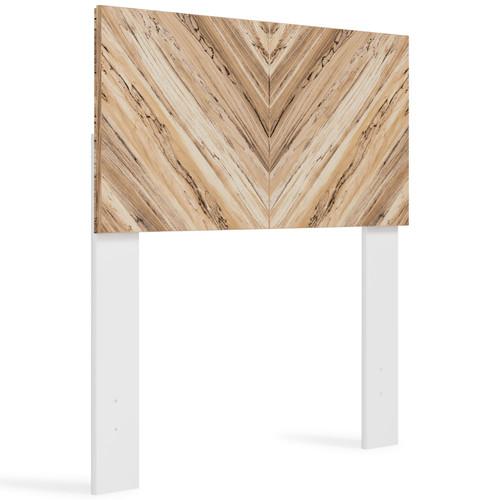 Piperton White / Brown / Beige Twin Panel Headboard img