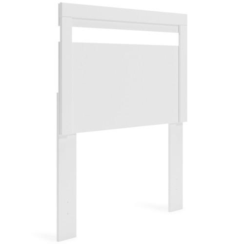 Finch White Twin Panel Headboard img