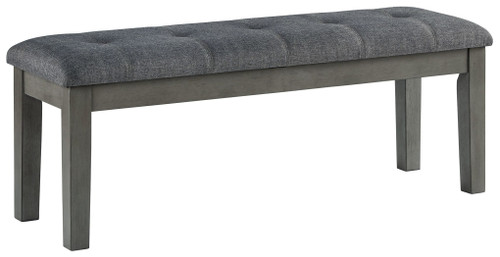 Hallanden Two-tone Gray Large Upholstered Dining Room Bench img