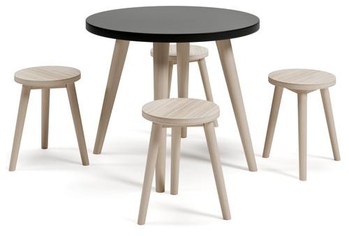Blariden Black/Natural Table Set (5/CN) img