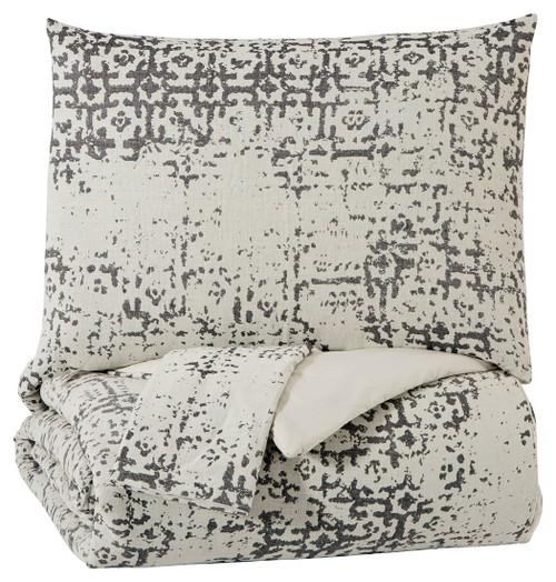 Addey Charcoal/Bone Queen Comforter Set img