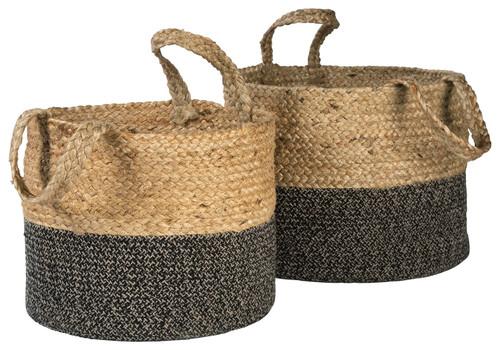 Parrish Natural/Black Basket Set (2/CN) img