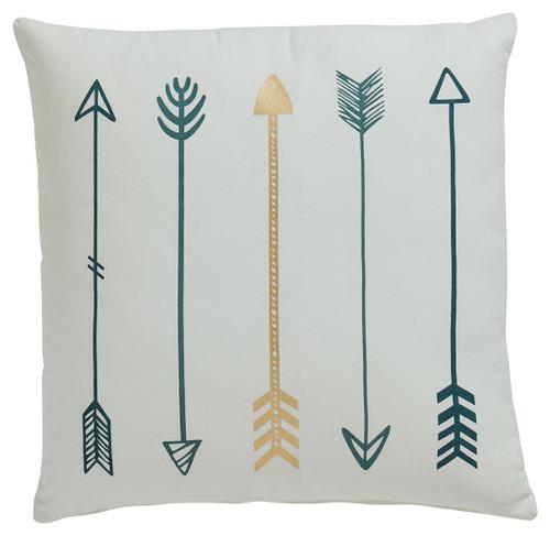 Gyldan White/Teal/Gold Pillow (4/CS) img