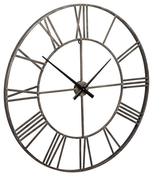Paquita Antique Silver Wall Clock img