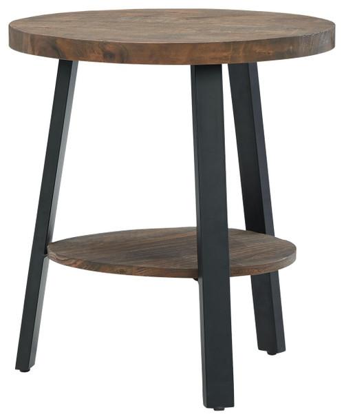 Chanzen Brown/Black Round End Table img