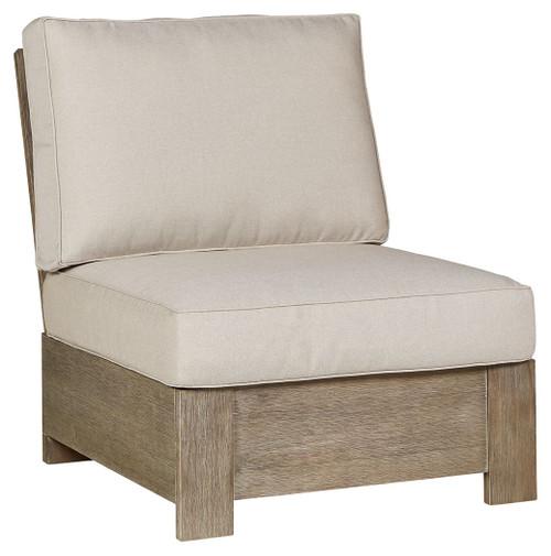 Silo Point Brown Armless Chair w/ Cushion img