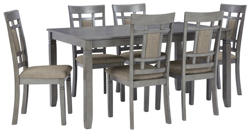 Jayemyer Charcoal Gray Rectangular Table Set (7/CN) img