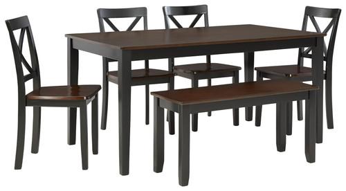 Larsondale Brown/Black Dining Room Table Set (6/CN) img