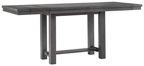 Myshanna Gray Rectangular Counter Extension Table img