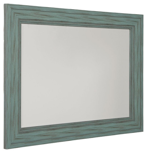 Jacee Antique Teal Accent Mirror img