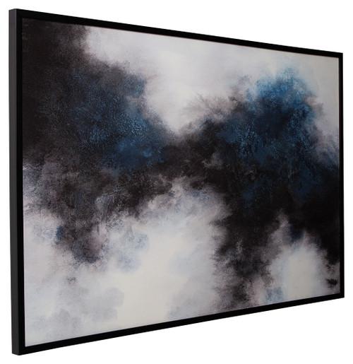 Bellecott Black/White/Blue Wall Art img