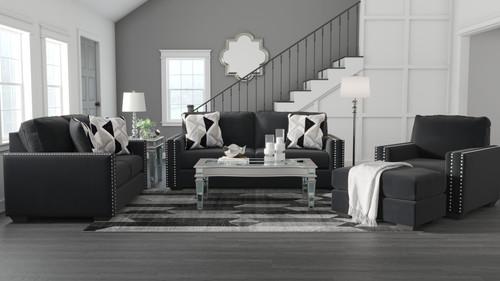 Gleston Onyx 4 Pc. Sofa, Loveseat, Chair, Ottoman img