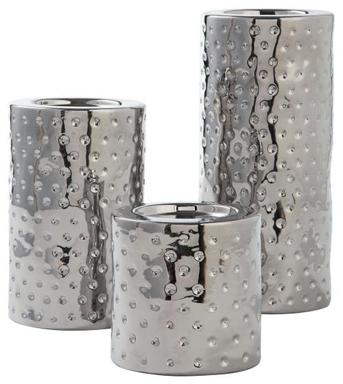 Marisa Silver Finish Candle Holder Set (3/CN) img
