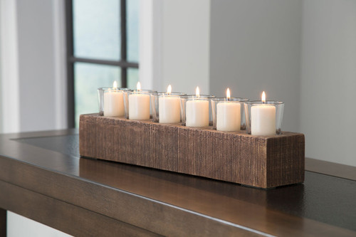 Cassandra Brown Candle Holder img