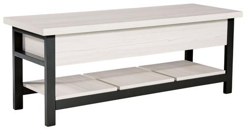 Rhyson White Storage Bench img