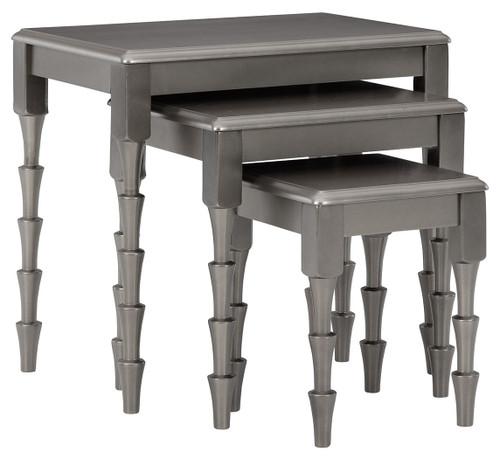 Larkendale Metallic Gray Accent Table Set (3/CN) img