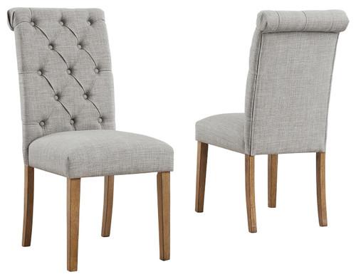 Harvina Light Gray Dining Upholstered Side Chair (Set of 2) img