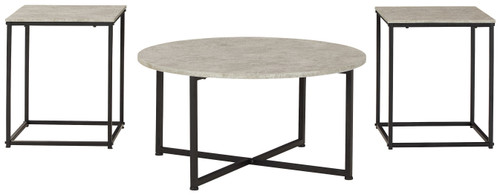 Lazabon Gray/Black Occasional Table Set (3/CN) img