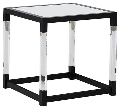 Nallynx Metallic Gray Square End Table img