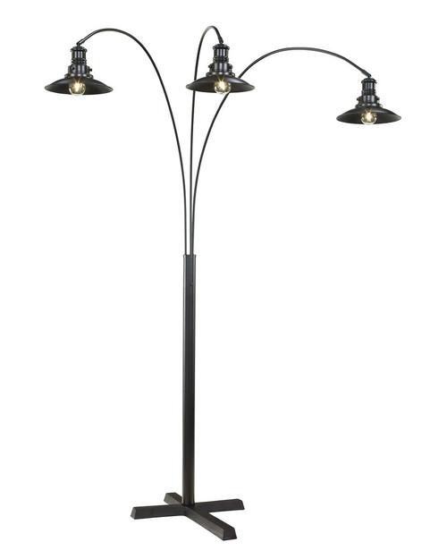 Sheriel Black Metal Arc Lamp img