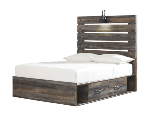 Drystan Multi Full Panel Bed with 4 Side Drawers img