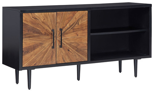 Shayland Black/Brown Accent Cabinet img