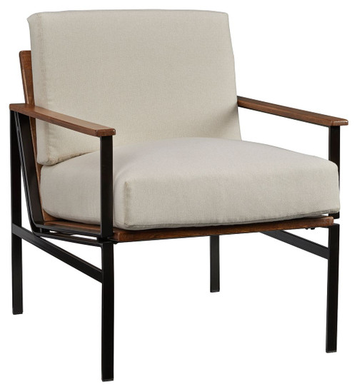 Tilden Ivory/Brown Accent Chair img