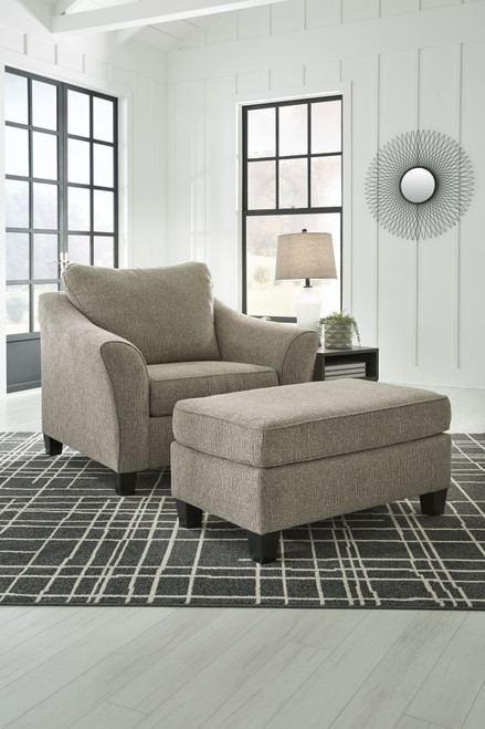 Barnesley Platinum 2 Pc. Chair and a Half with Ottoman img