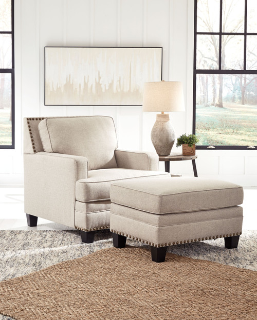 Claredon Linen 2 Pc. Chair, Ottoman img