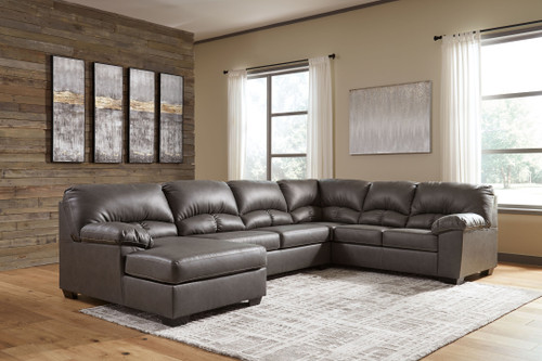 Aberton Gray Sectional with Chaise img