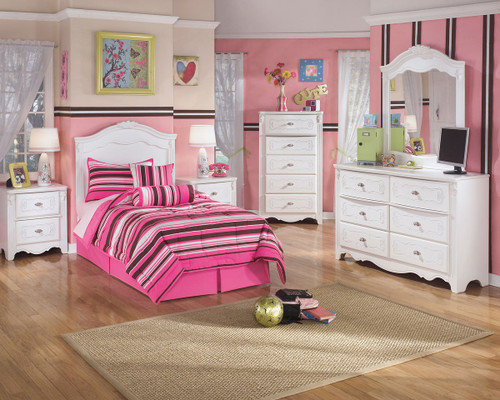 Exquisite White Two Drawer Night Stand img