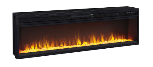 Entertainment Accessories Black Wide Fireplace Insert img