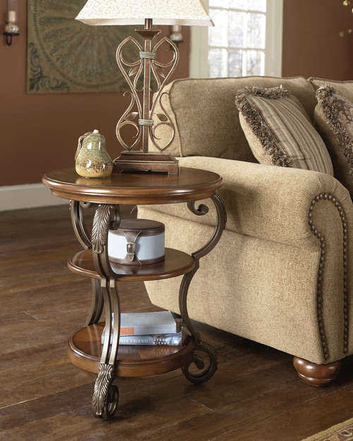 Nestor Medium Brown Chair Side End Table