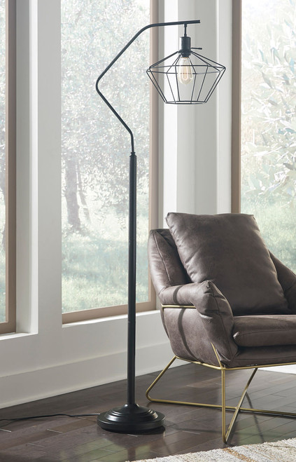 Makeika Black Metal Floor Lamp (1/CN) img