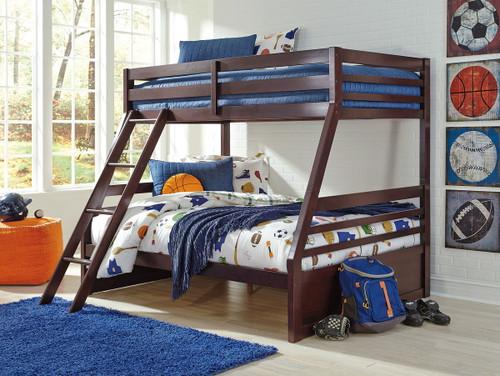 Halanton Dark Brown Twin/Full Bunk Bed img