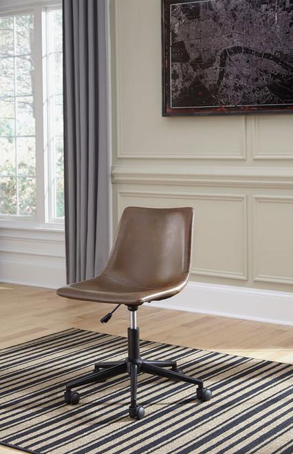 Office Chair Program Brown Home Bucket Seat Office Swivel Desk Chair img